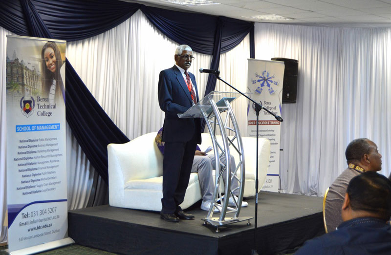 Berea College of Technology News Guest Speaker at the Principals' lunch- Mr G Van De Ross, CEO of the Central Applications Office (CAO)