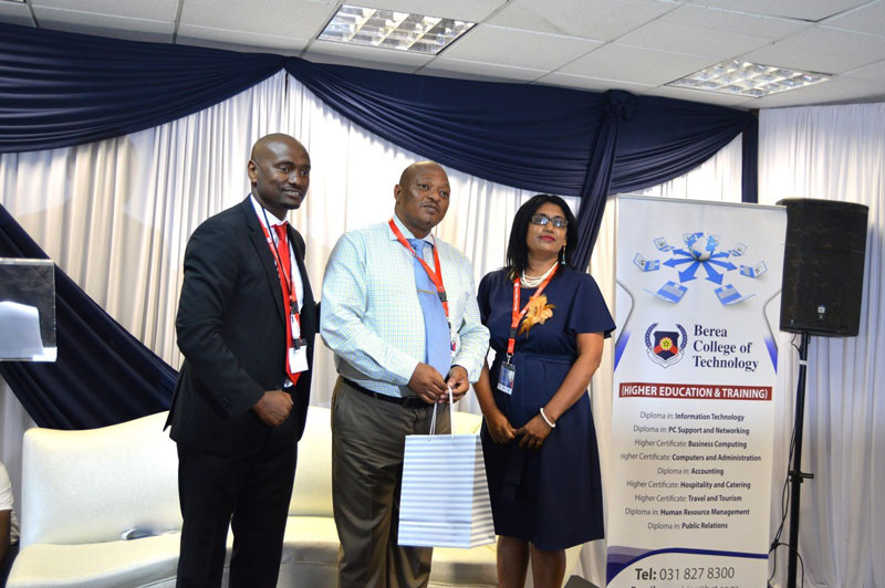 Berea College of Technology News Director of Student Recruitment and Admissions, Mr S Magwaza and Jessie Naidoo